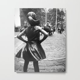 Fearless Girl Metal Print