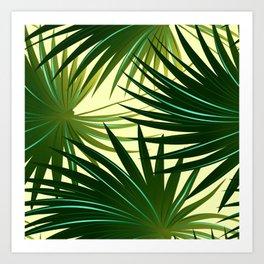 Cabbage palm leaf Art Print
