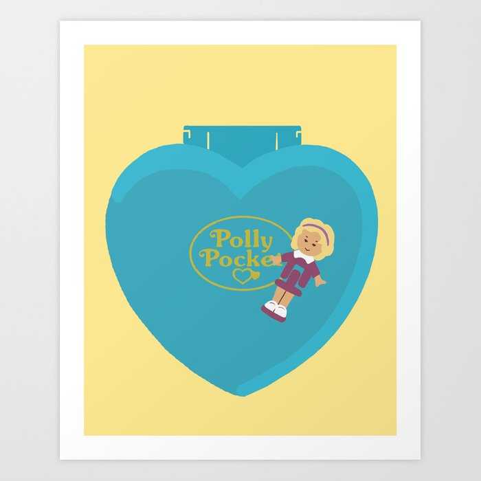 Polly Pocket Vintage Toys 90s Nostalgia Art Print by catalinawilliams