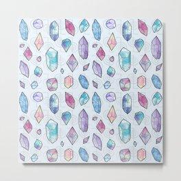Healing Crystals Metal Print