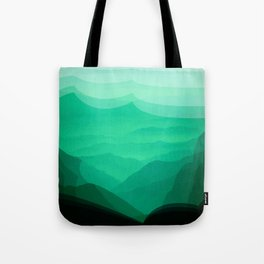 Green mountains Tote Bag