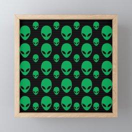 Aliens Exist Framed Mini Art Print