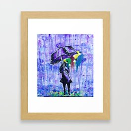 Paintdrops Framed Art Print