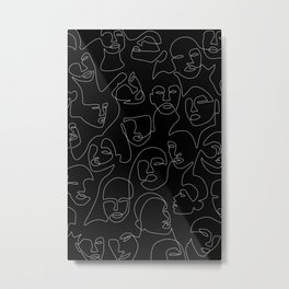 Face Lace Metal Print