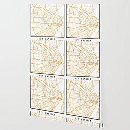 ST. LOUIS MISSOURI CITY STREET MAP ART Wallpaper
