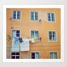 Windows of Alfama, Lisbon Art Print