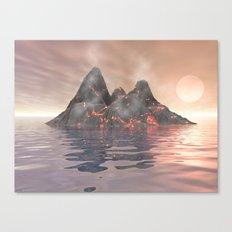 Volcano Island Canvas Print