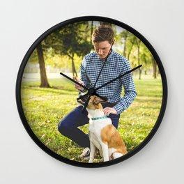 Dog by Zach Lucero Wall Clock