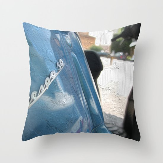 Vespa dreaming Throw Pillow