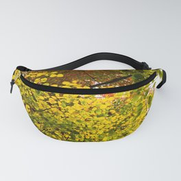 A Collage of Colorful Fall Leaves Fanny Pack