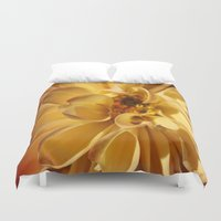 dahlia Duvet Covers featuring Dahlia by Uncommon Alchemy