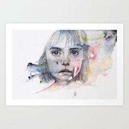 little girl's shadow Art Print