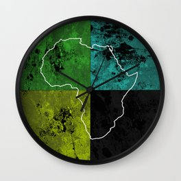 Tanzania III - Art In Support Of Kids 4 School Wall Clock