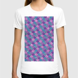 Pink Purple Blue Mermaid Scales Glitter Colorful T-shirt