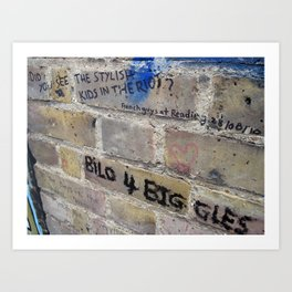 Hare Row - Bilo 4 Biggles Art Print