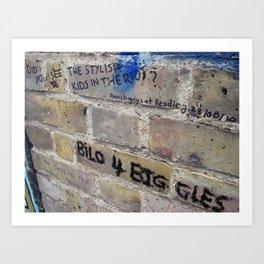 Hare Row - Bilo 4 Biggles Art Print