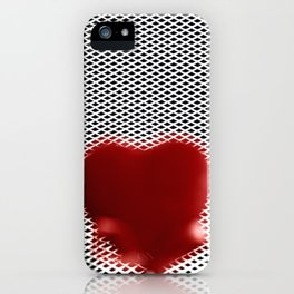 Heart in a cell iPhone Case