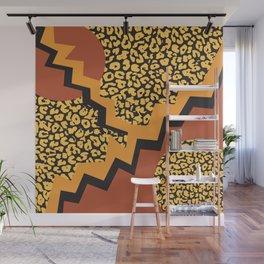 Leopard pattern in 80's style Wall Mural