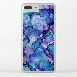 Abstract Alcohol Ink Painting 2 Clear iPhone Case