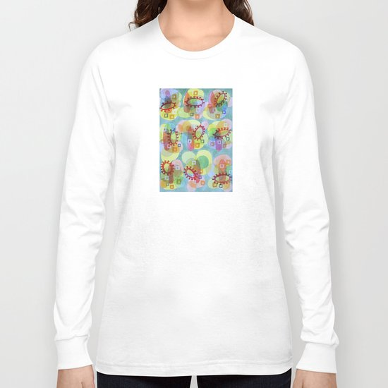Lovely Pattern with Red Rings Long Sleeve T-shirt
