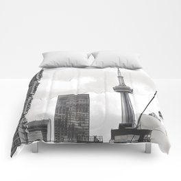 Monochrome Tower Comforters