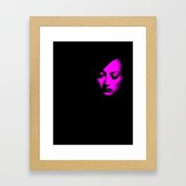 Joan Crawford Fuchsia Framed Art Print