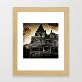 Haunted Hauntings Series - House Number 4 Framed Art Print