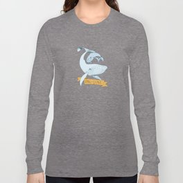 Big Love (gold and blue) Humpback Whales Long Sleeve T-shirt
