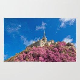 Mont Saint-Michel Abbey - Pink Fantasy Rug