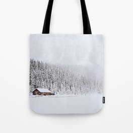 blinded by the white // lake louise Tote Bag