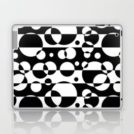Black White Geometric Circle Abstract Modern Print Laptop & iPad Skin