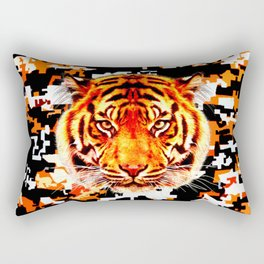 camouflage tiger on yellow  Rectangular Pillow