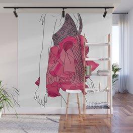 Pink dress Wall Mural