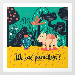 We are picnickers Art Print