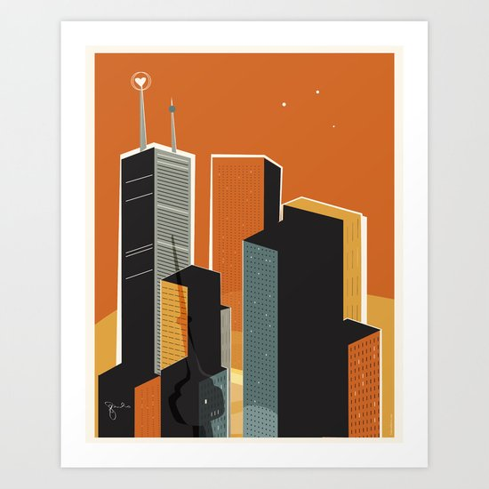 Hot Town. Summer in Toronto. Art Print