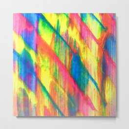 Glowing Neon Abstract Metal Print