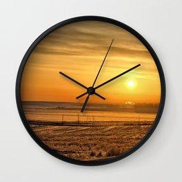 April Roads Wall Clock