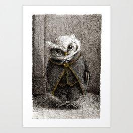 Unlike Father Like Owl Art Print