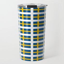 flag of sweden -  Swedish,Sverige,Swede,Stockholm,Scandinavia,viking,bergman, strindberg Travel Mug