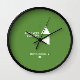 Perfect Logo Series (1 of 11) - Green Wall Clock