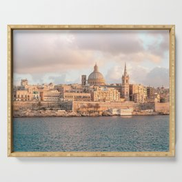 Valletta at Golden Hour Serving Tray