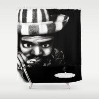reggae Shower Curtains featuring Reggae DJ by Mr Shins