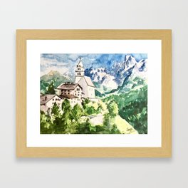 Northern Italian Alps Framed Art Print