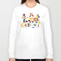 garden Long Sleeve T-shirts featuring Klee's Garden by Picomodi