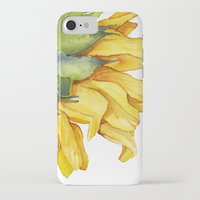 sunflower iPhone & iPod Cases featuring Sunflower by Cindy Lou Bailey