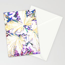 GERANIUM LEAVES BLUE Stationery Cards