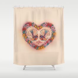 Sweetheart Fantails Shower Curtain