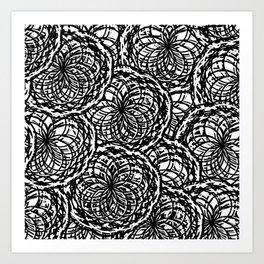 Yarn Patchwork Art Print