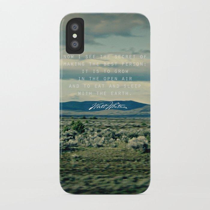 Whitman: Earth iPhone Case