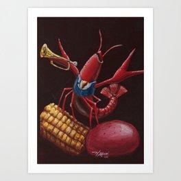 Musical Crawfish Art Print